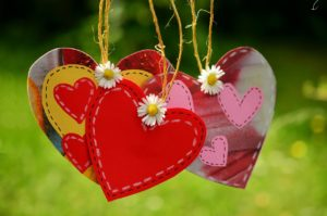homemade hearts together