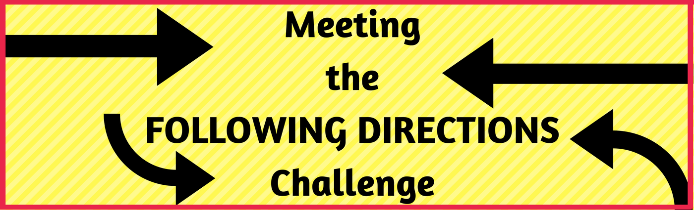 Meeting the Following Directions Challenge